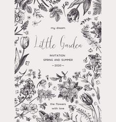 Botanical card vector