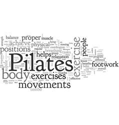 brief look at pilates movements vector image
