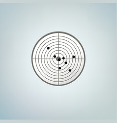 bullets target with holes color vector image