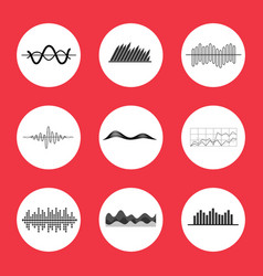 Charts graphs and equalizer interface icons vector