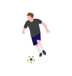 close-up of a soccer player who runs lightly vector image