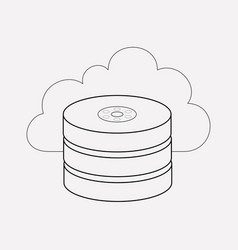 cloud storage icon line element vector image