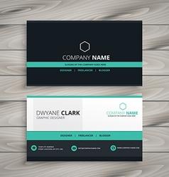 dark business card modern design vector image