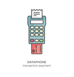 Dataphone transaction payment icon vector