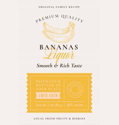 family recipe banana liquor acohol label abstract vector image