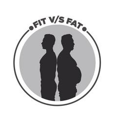 Fit vs fat vector