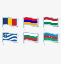 Flags of armenia azerbaijan vector