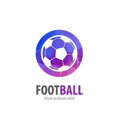 football logo for business company simple vector image