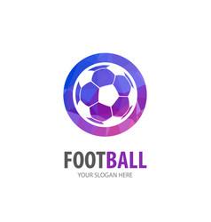 Football logo for business company simple vector