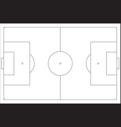 Football pitch outline vector