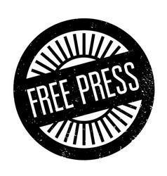 free press rubber stamp vector image