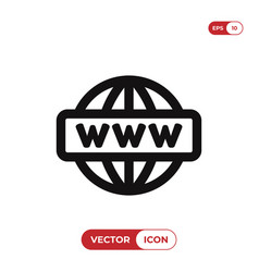 go to web icon internetwww symbol vector image