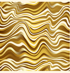 gold color wave seamless pattern vector image