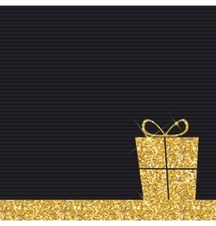 Gold Glitter Shiny Gift Box Background vector