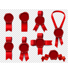 greeting wafers ribbon set vector image