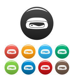 Gum pillow icons set color vector