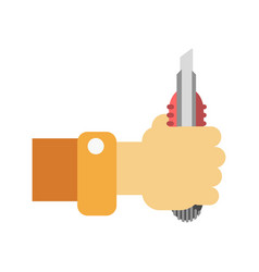 Han with builder knife vector