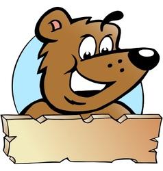 hand-drawn an happy proud brown bear - logo vector image