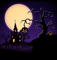 happy halloween party template vector image