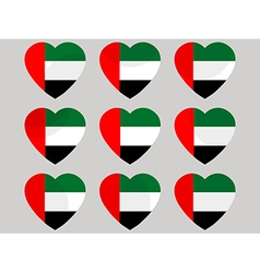 Heart with the flag of United Arab Emirates vector