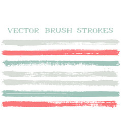 hipster ink brush strokes design elements vector image