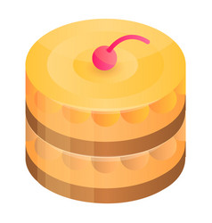 home made cake icon isometric style vector image