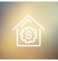House online payment thin line icon vector image
