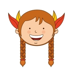 Indian girl character icon vector