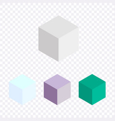 isometric colorful cubes icons collection vector image