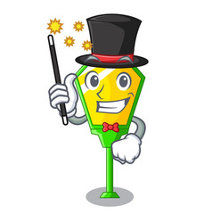 Magician character a lamp in post style vector