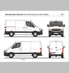 Mercedes sprinter swb low roof cargo van l1h1 2017 vector