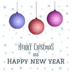 merry christmas and happy new year decoration vector image