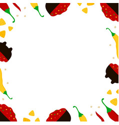Mexican food card template with salsa sauce vector