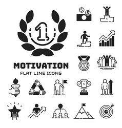 Motivation concept chart icon business strategy vector