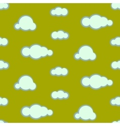Night sky clouds seamless pattern vector image