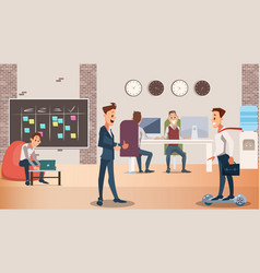 office group creative people work together vector image