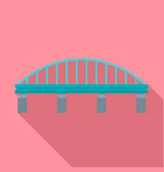 safe bridge icon flat style vector image