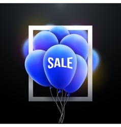 Sale balloons promotional poster frame vector image