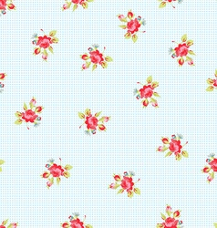 seamless pattern with red roses vector image