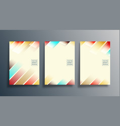 set abstract design cover for background flyer vector image