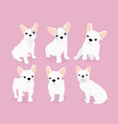 set of cute adorable french vector image
