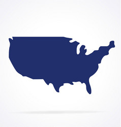 simplified usa america map shape vector image