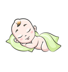 Sleeping baby isolated on white vector