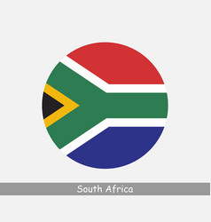 South africa round circle flag vector