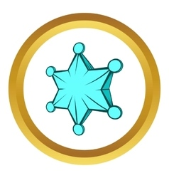 Star icon cartoon style vector