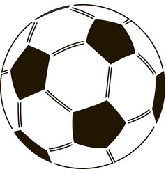 stencil of soccer ball vector image