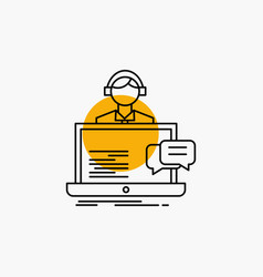 support chat customer service help line icon vector image