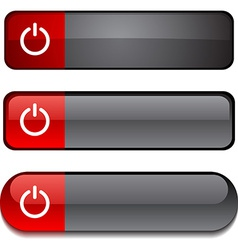 Switch button set vector image