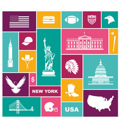 symbols of the usa flat icon vector image