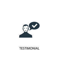testimonial icon simple element vector image
